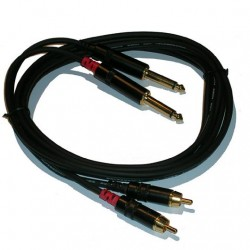 Cable stereo RCA-Plug 1.5mt NRA-0090-015