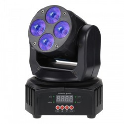 LED MINI MOVING HEAD WASH 4X12W RGBWA+UV Wildpro