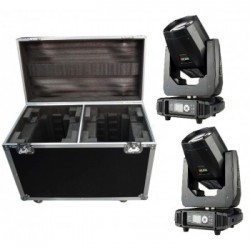 KIT 2 X LED BEAM 160 MOVING HEAD W/FC Wildpro