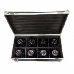 KIT X 8 COB LED PAR KING 100W + FLIGHT CASE BIG DIPPER