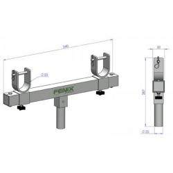 Cable profesional miniplug a dos XLR macho largo 1 metro.