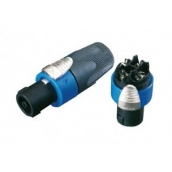 Conector tipo speakon macho a cable 4 contactos